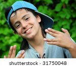 portrait of a young boy   Shutterstock . vector #31750048