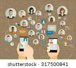 global social network abstract... | Shutterstock .eps vector #317500841