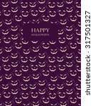 halloween card with scary... | Shutterstock . vector #317501327