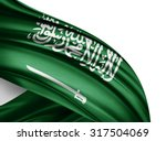 saudi arabia  flag of silk with ... | Shutterstock . vector #317504069