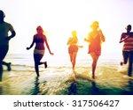 friendship freedom beach summer ... | Shutterstock . vector #317506427