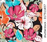 floral seamless pattern  ... | Shutterstock .eps vector #317511857