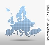 map of europe | Shutterstock .eps vector #317514401