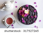Purple Cake Decorated With...