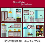 furniture set for rooms of... | Shutterstock .eps vector #317527931