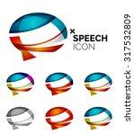 set of abstract speech bubble... | Shutterstock . vector #317532809