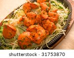 Indian Chilli Chicken with vegetables - stock photo