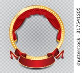 Vector Circle Stage With Red...