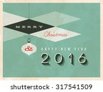 vintage style greetings card  ... | Shutterstock .eps vector #317541509