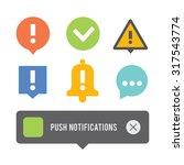 push notifications elements... | Shutterstock .eps vector #317543774
