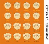 grandpa emotions  | Shutterstock .eps vector #317552315