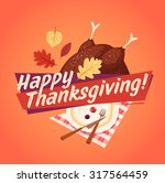 happy thanksgiving card ... | Shutterstock .eps vector #317564459