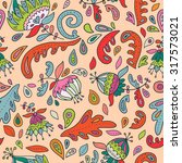 seamless floral pattern with... | Shutterstock .eps vector #317573021