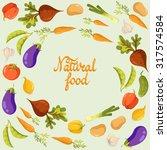 vegetables. vector background   Shutterstock .eps vector #317574584