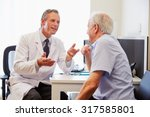 senior patient having... | Shutterstock . vector #317585801