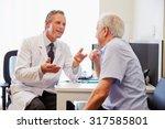 senior patient having... | Shutterstock . vector #317585801
