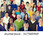 large group of diverse... | Shutterstock . vector #317585969