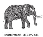 stylized fantasy patterned... | Shutterstock .eps vector #317597531