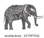 stylized fantasy patterned... | Shutterstock .eps vector #317597531