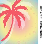 tropical palm tree layout | Shutterstock . vector #3175988