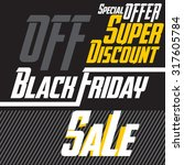black friday sale design vector | Shutterstock .eps vector #317605784