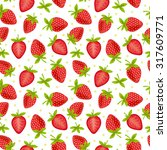 Seamles Strawberry Pattern On...