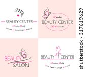 set of vector  logo templates ... | Shutterstock .eps vector #317619629