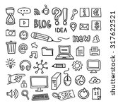 internet business icons hand... | Shutterstock .eps vector #317622521