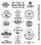 halloween party design elements ... | Shutterstock .eps vector #317622824