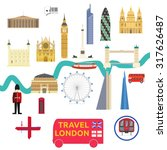 map of london attraction... | Shutterstock .eps vector #317626487