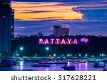colorful of pattaya city... | Shutterstock . vector #317628221