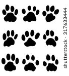 Stock vector print of jaguar s paw vector 317633444