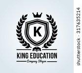 king education letter k crest... | Shutterstock .eps vector #317635214