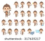 set of various poses of... | Shutterstock .eps vector #317635217