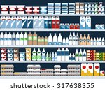 grocery store shelves with... | Shutterstock .eps vector #317638355