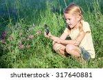 Happy Little Girl Exploring...