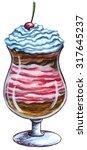 decorative dessert sweet  ice...   Shutterstock . vector #317645237