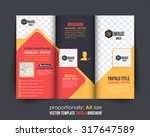 multicolor tri fold  catalog ... | Shutterstock .eps vector #317647589