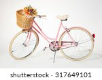 Pink Vintage Bicycle With...