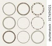 vector set of nine different... | Shutterstock .eps vector #317654321