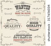 hand drawn vintage quality... | Shutterstock .eps vector #317656034
