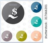 ictograph of money in hand | Shutterstock .eps vector #317666201