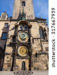 old town square in prague ... | Shutterstock . vector #317667959