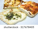 grilled goat cheese | Shutterstock . vector #317678405