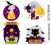 halloween cute clip art set.... | Shutterstock .eps vector #317678999