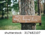 a wooden plaque with the... | Shutterstock . vector #317682107