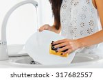 young woman hands with nice... | Shutterstock . vector #317682557