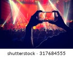 engage your audience crowd with ... | Shutterstock . vector #317684555