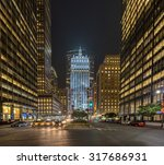 park avenue in manhattan new... | Shutterstock . vector #317686931