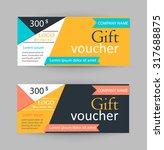 gift vouchers design template ... | Shutterstock .eps vector #317688875